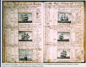 Betsey Ship's Log One of ships for Asbury's Atlantic Crossing