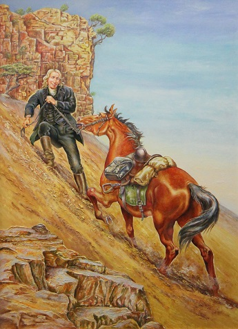 Asbury Leading Horse Uphill Courtesy of B.L. Fischer Library, Asbury Theological Seminary