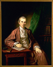 Dr. Benjamin Rush Painting by  Charles Wilson Peale 1783