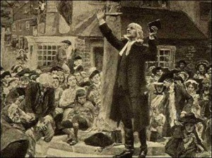 John Wesley Preaching West Bromwich Francis Asbury  Circuits in England