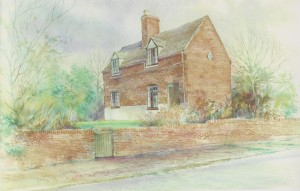 John Hurst painting of Francis Asbury Cottage in Great Barr, Staffordshire