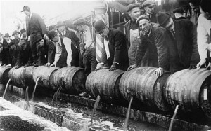 American Temperance Movement Beer Poured Out
