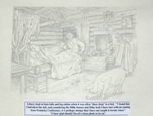 Francis Asbury Sleeps Three to a Bed Painting by Richard G. Douglas Used with Permission