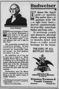 Budweiser and George Washington