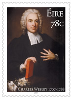 Charles Wesley Irish Stamp