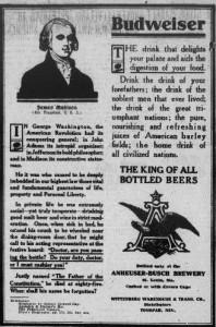 Budweiser and James Madison