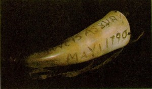 Francis Asbury's Powder horn Dated May 1779