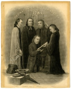 Engraving  1784 Ordination of Francis Asbury Featured at the SMU Exhibition