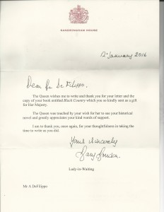 Letter to Al DeFilippo From Her Majesty Queen Elizabeth II